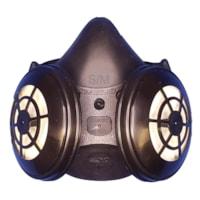 Dentec Comfort-Air® Series 400Nx Demi-masque respiratoire sans soupape d'expiration avec filtres N95, noir, petit/moyen