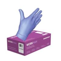 Forcefield WORKMAN gants jetables en nitrile de qualité médicale, sans poudre, 4 mil, moyenne, carton de 1 000