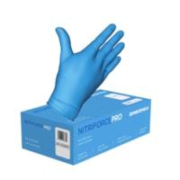 Forcefield NITRIFORCE PRO gants jetables en nitrile, sans poudre, 4 mil, grand, boîte de 100