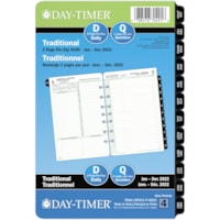 Day-Timer 12-Month Daily 2 Pages Per Day Desk-Size Loose-Leaf Planner Refill, 8 1/2