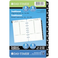 Day-Timer 12-Month Desk-Size Daily 1 Page Per Day Loose-Leaf Planner Refill, 8 1/2