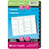 Day-Timer 12-Month 2 Pages Per Week Desk-Size Loose-Leaf Planner Refill, 8 1/2