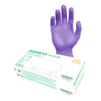 Gants d'examen en nitrile biodégradables sans poudre Ronco Earth, XL, violet, boîte de 100