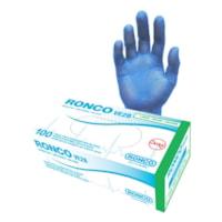 Gant d'examen en vinyle Ronco VE2B, grand, bleu, boîte de 100