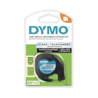 DYMO LetraTag Refill Label Tape, Black Type/Clear Tape