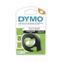 DYMO LetraTag Refill Label Tape, Black Type/Pearl White Tape