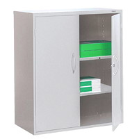 Grand & Toy 2-Shelf Steel Storage Cabinet, Light Grey, 36