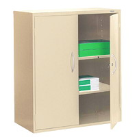 Grand & Toy 2-Shelf Steel Storage Cabinet, Sand, 36