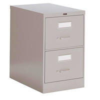 Global 2600 Series Economy Vertical File, 2-Drawer, Grey, Legal Size