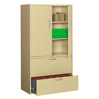 Grand & Toy Multi-Storage Cabinet, Sand, 36