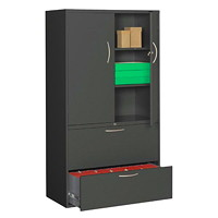Grand & Toy Multi-Storage Cabinet, Black, 36