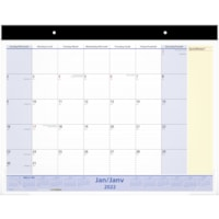 At-A-Glance 13-Month QuickNotes Monthly Desk Pad Calendar, 22