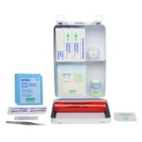 Trousse de premiers soins Ambulance Saint-Jean certifiée CSA, type 1, pour usage personnel (1 employé), boîte en métal