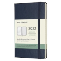 Moleskine 12-Month Weekly Planner, Sapphire Blue, 5