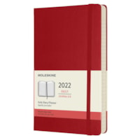 Moleskine 12-Month Daily Planner, Red, 8 1/4