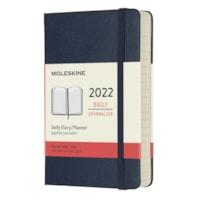 Moleskine 12-Month Daily Pocket Planner/Notebook, Blue Cinder, 3 1/2