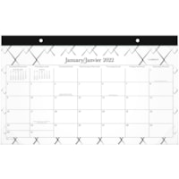 Cambridge Mackenzie Compact Desk Pad Calendar, 18