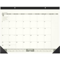 At-A-Glance 12-Month Recycled Monthly Calendar Desk Pad, 22