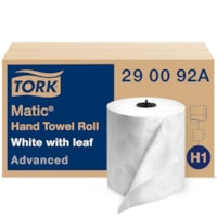 Tork 2-Ply Advanced Matic Hand Paper Towels, White, 525', Carton of 6