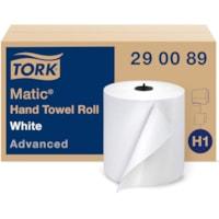 Rouleau d'essuie-mains Elevation Matic Tork, blanc, 700 pi, carton de 6