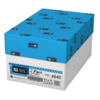 NCR Xero/Form II Pré-assemblé 2 parties, Blanc/Canari, 8-1/2 po x 11 po, carton de 10 emballages (5 000 feuilles)