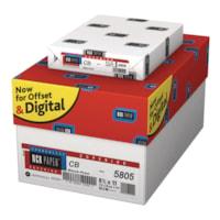 NCR Supérieur CB impression en noir, 21#, blanc, 8-1/2 po x 11 po, carton de 10 emballages (5 000 feuilles)