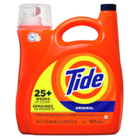 Détergent à lessive liquide haute efficacité (HE) Tide, Original, 4,55 L (107 brassées)