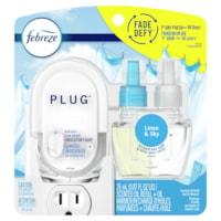 Febreze désodorisant éliminant les odeurs Fade Defy PLUG, Linen & Sky, kit de démarrage et recharge d'huile