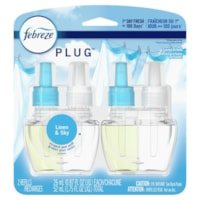 Recharges d'huiles parfumées Plug Febreze, parfum lin et ciel, 26 ml, emb. de 2
