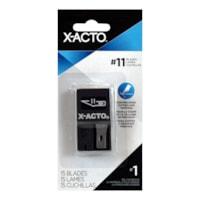 Lames de rechange classiques à pointe fine #11 X-Life X-Acto, avec un distributeur, emb. de 15