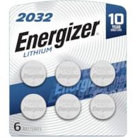 Piles boutons 2032 Energizer, emb. de 6
