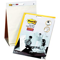 Post-it Super Sticky Tabletop Easel Pad, White, 20