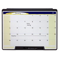 Quartet Motion 1-Month Dry-Erase Wall Calendar Board, 24