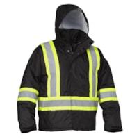 Forcefield Hi Vis Black Driver's Jacket, XL