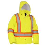 Forcefield Yellow Hi Vis Safety Driver's Jacket, Large