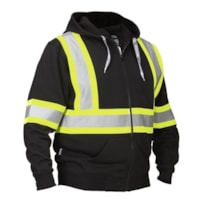 Forcefield Black Safety Hoodie with Attached Hood, XL