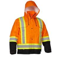 Forcefield 4-in-1 Hi Vis Orange Safety Parka, XL