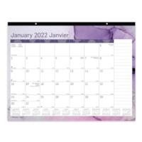 Blueline 12-Month Monthly Desk Pad/Wall Calendar, Quartz Design, 22