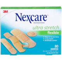 Pansements Ultra Stretch Nexcare, tailles variées, boîte de 80