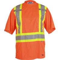 T-shirt de sécurité en polyester approuvé CSA 6006 Viking, orange, TTTG