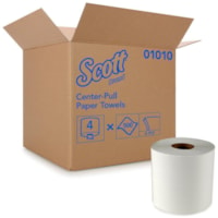 Scott 2-Ply Centre-Pull Hand Paper Towels, White, Roll of 500 Sheets, Case of 4