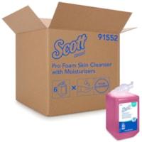 Scott® Pro Foam Skin Cleanser with Moisturizers, 1 L, Carton of 6