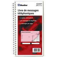 Blueline Phone Message Book