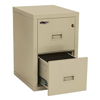 FireKing Turtle Compact Insulated 2-Drawer Vertical File