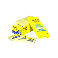 Post-it Original Pop-Up Notes Cabinet Pack, Unlined, Canary Yellow, 3