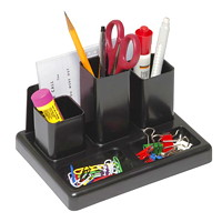 Korr 6-Section Desk Organizer with Note Pad Holder