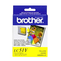 Cartouche d'encre à rendement standard Brother LC51 (LC51YS), jaune