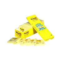 Post-it Original Notes, Canary Yellow, 3