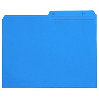 Grand & Toy Coloured File Folders, Blue, Letter-Size, 100/BX