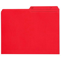 Grand & Toy Coloured File Folders, Red, Letter-Size, 100/BX
